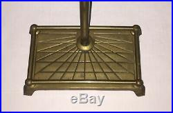 5 Pc Vintage Brass Fireplace Tools Fireplace Tool Set Claw Feet Stand