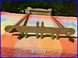 5 Piece Antique Cahill Fireplace Hearth Tool Set Mission Arts and Crafts Bronze