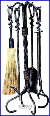 5 Piece Antique Rust Wrought Iron Toolset