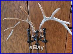5 Piece Whitetail Deer Antler Fireplace Tool Set