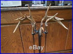 5 Piece Whitetail Deer Antler Fireplace Tool Set Display Think Xmas