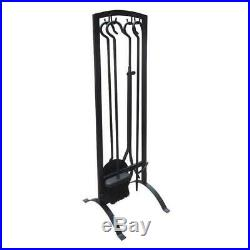 ART TO REAL Fireplace Tools Sets Black Wrought Iron Fireset Fire Pit Type 2