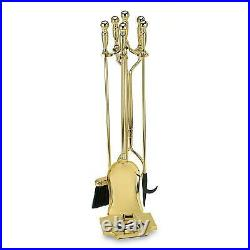 Achla Designs Polished Brass Plated Fireplace Tool Set 32 PBR-15