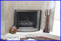 Alessandro Albrizzi Vtg Mid Century Modern Chrome Rosewood Fireplace Tools Set