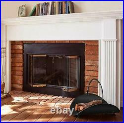 Amagabeli 30in Fireplace Tools Set Brass Handle Bundle Fireplace Log Holder Bund