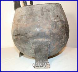Antique 1800's handmade wrought iron fireplace poker shovel tool set coal bucket