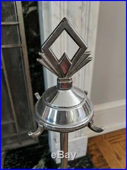 Antique Art Deco Fireplace Tool Set