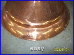 Antique Brass & Copper Fireplace Set 4 Piece Tools