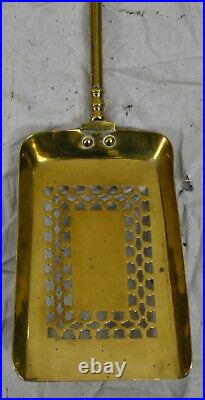 Antique Brass Fireplace Tools Set 4 Pieces Metropolitan Museum of Art