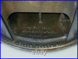Antique Nelson Hearth Kit Fireplace Tool Set Brass Bronze Farmhouse Rustic Cabin