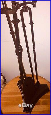 Antique Ornate Fireplace Tool Set