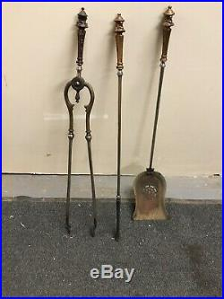 Antique Set Fireplace Tools. American Late 18th Century