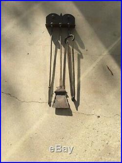 Antique Wall Mounted fireplace tool set