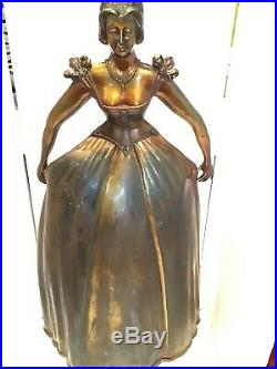 Art Deco Fireplace Screen Tool Caddy Lady Set Machine Age vintage mannequin 30
