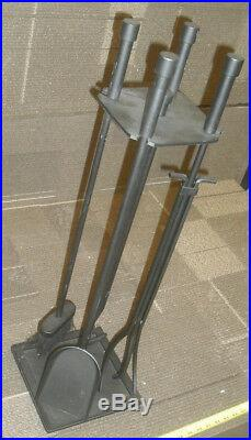 Black 5 Piece 31-1/2 Tall Wrought Iron Tool Set Fireplace Tool Set