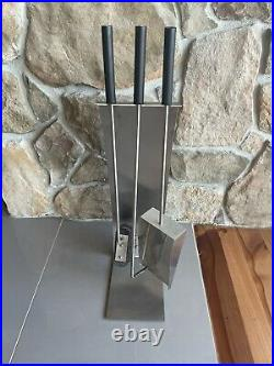 Blomus Chimo 4 Piece Fireplace Tool Set with Bow Front 65138