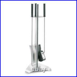 Blomus Chimo 4 Piece Fireplace Tool Set with Triangle Base 65137