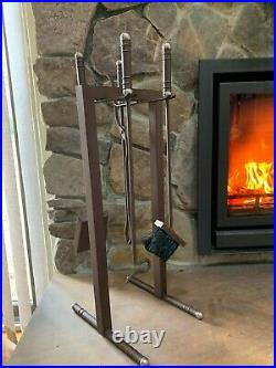 Brand New High End Fireplace Tool Set Bronze, Made In Europe