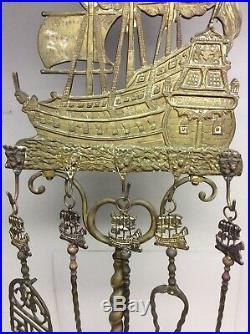 Brass Fireplace Tools Set, Don Fernando Tall Ship 51 Tall