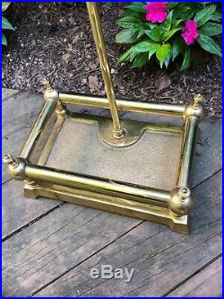 Brass Horse Head Handle Fireplace Tool Set Home Ranch Cabin Exc