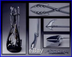 Cast Bronze & Stainless Steel Fireplace Tool Set