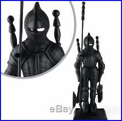 Cast Iron Knight Fireplace Tool Set