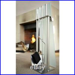 Chimo 5 Pc Fireplace Tool Set with Glass Front Holder ID 51370