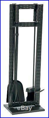 Dagan Five Piece Fireplace Tool Set, Black