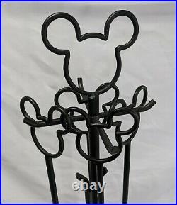 Disney Mickey Mouse Wrought Iron 4 Piece Fireplace Tool Set