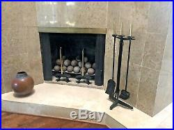 Donald Deskey Bennett Vtg Mid Century Modern Art Deco Fireplace Brass Tools Set