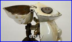 Enameled Cast Iron Medieval Knight Wood Stove Fireplace Tool Set Antique Vintage