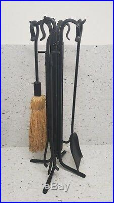 Fireplace 5 Piece Cleaning Tools Cast Iron Item 200230-brs