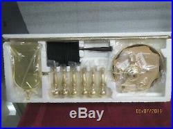 Fireplace Accessory Tool Set -Adams Co. Four piece Brass-NEW