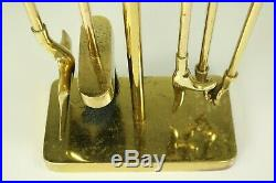 Fireplace Tool Set Minima by Nancy Ruben & Virginia Metalcrafters Vintage Brass