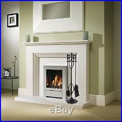Fireplace Tools Wrought Iron 5 Pc Wood Stove Log Tongs Pit Poker Black New