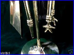 Fireside Set Camingarnitur 70cm Polished Solid Brass Gold 82078 Fireplace Tool