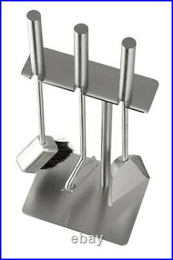 Hansa Premium Fireplace Tool Set(3 Parts)Square Hanger, Fire Tools Stainless Stee