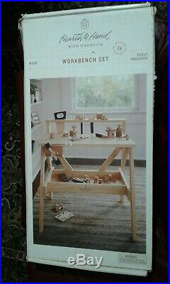 Hearth & Hand Magnolia Childs Workbench Set Wooden Tools Bench New In Box