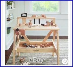 Hearth & Hand Magnolia Wood Toy Workbench Tool Bench NEW Farmhouse Pretend NIB