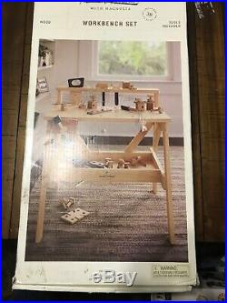 Hearth & Hand With Magnolia Wooden Tool Bench Kids Toy Workbench Set 38 Pieces