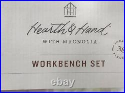 Hearth and Hand Magnolia Workbench set Joanna Gaines BNIB tool bench