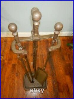 Howes Of Boston Vintage Iron Fireplace Tool Set Wood Stove Fireplace Tools