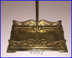 ITALY Vintage Brass Fireplace Tools Fireplace Tool Set Ornate Stand 5 Piece