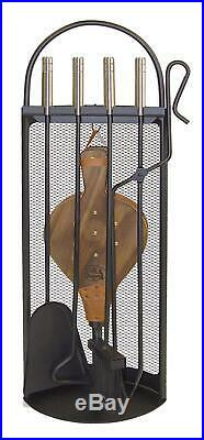 Imex El Zorro 10048 Fireplace Set With Bellows And Tools, Stainless Steel, X