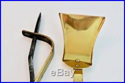 Jacques Maison Charles Vtg Mid Century French Modern Brass Fireplace Tools Set