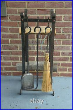 L. L. Bean Hearthside Wood Rack and Tool Fireplace Set