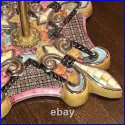 MACKENZIE CHILDS Courtly Check ESPALIER Fireplace Tool Set Never Used FABULOUS