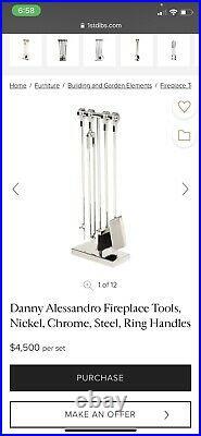 Mid Century Modern Danish Vintage Danny Alessandro Fireplace Tool Set Abruzz