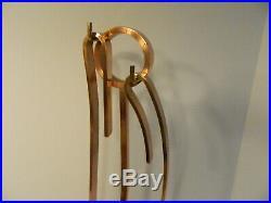 Mid-Century Modern Donald Deskey Design Fireplace Tool Set Copper o/ Brass