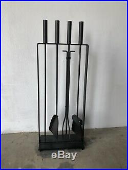 Mid Century Modern Fireplace Tools Set by Pilgrim attb. George Nelson Eames Era